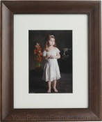 Sierra Brown Matted Bamboo Picture Frame