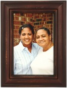 Weathered Antique Brown Picture Frame