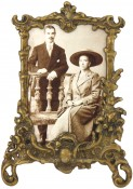 Lacquered Antique Brass Picture Frame