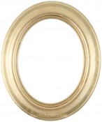 Naomi Gold Leaf Oval Picture Frame