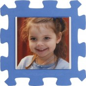 Blue Kids Foam Picture Frame