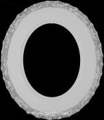 Ella Linen White Oval Picture Frame