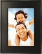 Flat Black Wood Picture Frame with Raised Edge