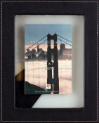 Black Leather Floating Picture Frame