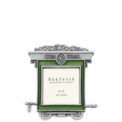 Coal Car Train Frame in Solid Pewter
