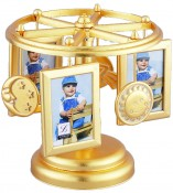 Frame Go Round Gold Musical Picture Frame