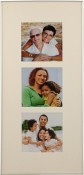 Silver Matted Square Triple Picture Frame