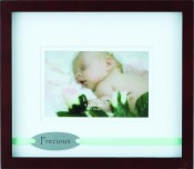 Precious Baby Picture Frame with Green Ribbon