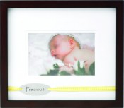 Precious Baby Picture Frame with Yellow Ribbon