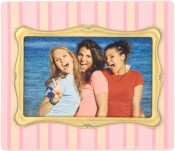 Pink Pinstripe Decorative Picture Frame