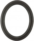 Marna Black Silver Oval Picture Frame