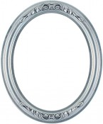 Chloe Silver Leaf Black Oval Picture Frame