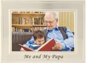 Brushed Silver Papa Picture Frame