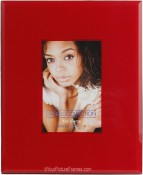 Red Art Glass Picture Frame