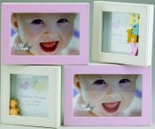 Pink and Ivory Baby Picture Frame