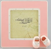 Pink Saddle Shoes Baby Picture Frame