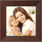 Angled Molding Square Walnut Picture Frame