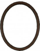 Sadie Rosewood Oval Picture Frame