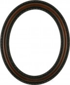 Melinda Rosewood Oval Picture Frame