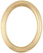 Rissa Gold Leaf Oval Picture Frame