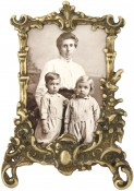 Polished Antique Brass Picture Frame