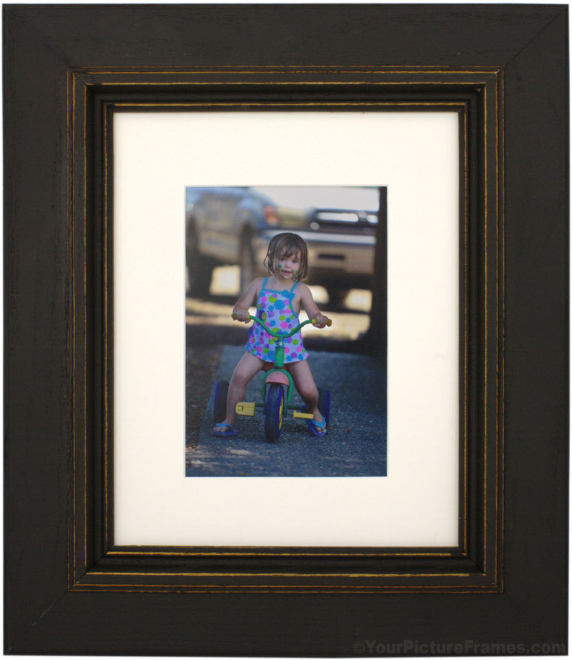 Palladio Black Distressed Picture Frame