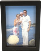 3/4 Deep Black Shadow Box Picture Frame