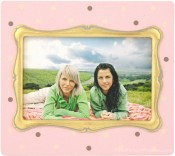 Pink Polka Dot Decorative Picture Frame