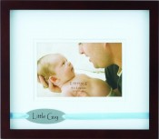 Little Guy Baby Picture Frame with Blue Ribbon