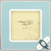 Blue Airplane Baby Picture Frame