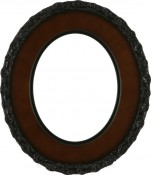 Ella Rosewood Oval Picture Frame