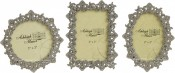 Jeweled Ornate Small Picture Frames Set