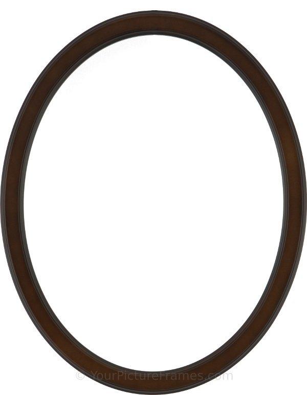 Lyla Walnut Oval Picture Frame