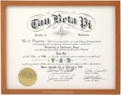 Cherry Stained Wood Diploma Frame