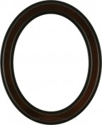Marna Rosewood Oval Picture Frame