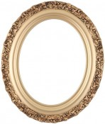 Mia Gold Spray Oval Picture Frame