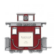 Caboose Train Frame in Solid Pewter