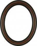 Rissa Rosewood Oval Picture Frame