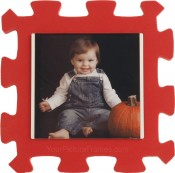 Red Kids Foam Picture Frame