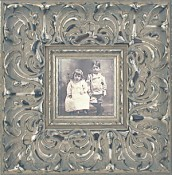 Adriana Ornate Silver Leaf Picture Frame