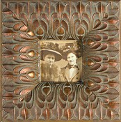 Vitalia Ornate Picture Frame With Copper Patina
