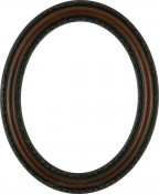 Melinda Walnut Oval Picture Frame