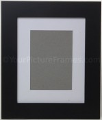 Metro Black Picture Frame with Archival Mat