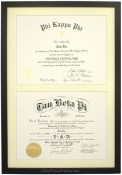 Black Wood Double Diploma Frame