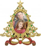 Jeweled Christmas Tree Holiday Picture Frame