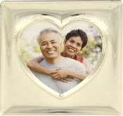Silver Heart Picture Frame
