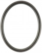 Gilda Black Silver Oval Picture Frame