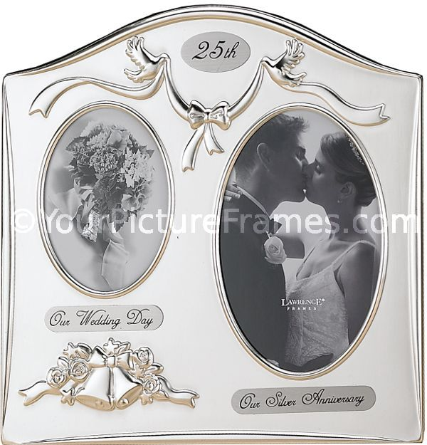 Satin Silver Plated 25th Anniversary Picture Frame