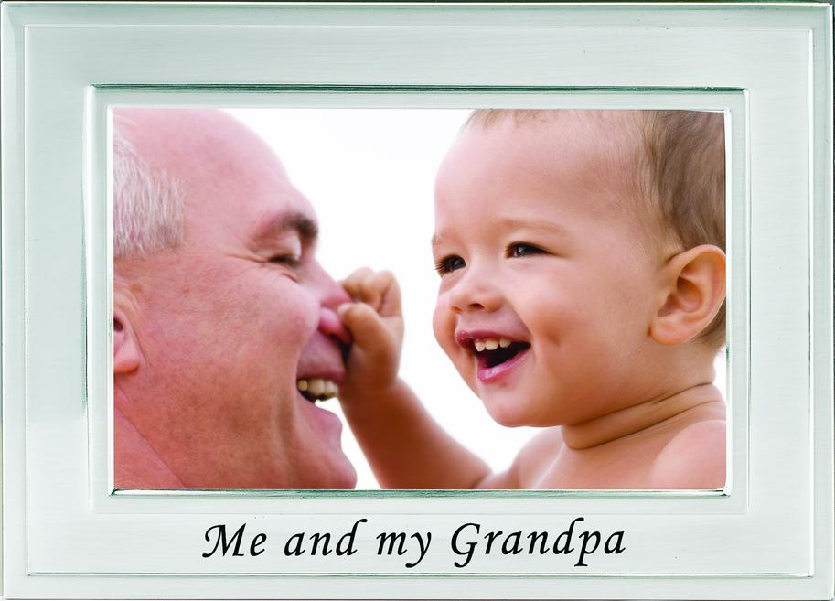 Brushed Silver Me and My Grandpa Picture Frame