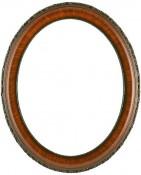 Trina Vintage Walnut Oval Picture Frame